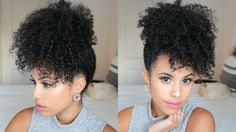 The pinapple updo. | 17 Really Cute Hairstyles For People With Naturally Curly Hair