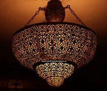 bedroom moroccan chandelier