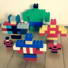 The original Avengers in #duplo #lego #avengers #toysforcheapparents