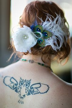 Bridal Hairpiece with my sweet owl tatoo by Eellevee, via Flickr