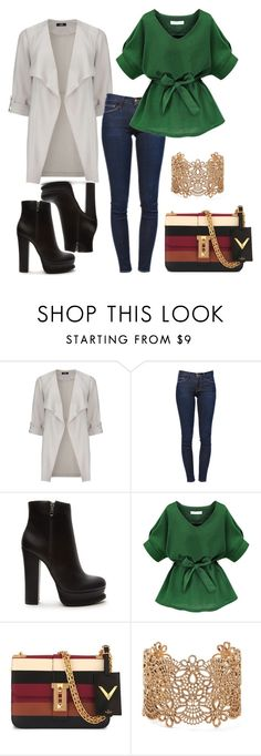 """""""Untitled #1020"""" by rocio-martinez-1 ❤ liked on Polyvore featuring Wallis, Frame Denim, Forever 21 and Valentino"""
