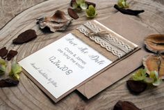 Save the Date Wedding Cards  Rustic Wedding Save by PaperStudioByC