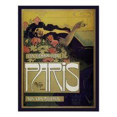 Vintage Art Nouveau Spanish ad - French cigarettes Print