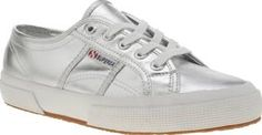 Superga Silver 2750 Womens Trainers Superga update their signature 2750 profile with a slick silver makeover. The man-made plimsoll features classic tab branding on the midsection, with a rubber sole unit finishing the metallic style ni http://www.comparestoreprices.co.uk/january-2017-8/superga-silver-2750-womens-trainers.asp