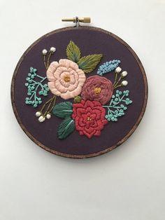 Embroidery Pattern PDF Pattern Floral por HoffeltAndHooperCo