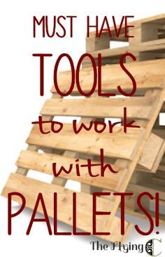 Pallet Furniture Projects Basic tools to make working with pallets easier! - Pallets are awesome. They are cheap, even free, and have an aesthetic that works with any decor from super-modern to shabby chic, to country farmhouse. The idea… Pallet Crates, Pallet Boards, Pallet Art, Wooden Pallets, Pallet Ideas, Pallet Tool, Pallet Shelves, Pallet Benches, Pallet Tables