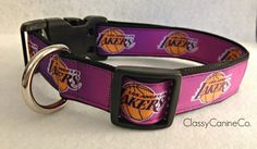 f661d24faf32 Los Angeles Lakers Dog Collar from ClassyCanineCo.