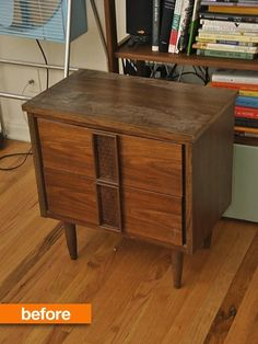 Before & After: Sarah Saves a MCM Sidetable