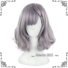 Cute Harajuku Lolita Wig Smoke Grey Full Long Cruly Hair Short Cosplay Gradient in Clothes, Shoes & Accessories, Women's Accessories, Wigs, Extensions & Supplies | eBay