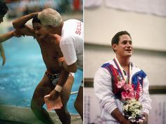 Greg Louganis, 1988 Summer Olympics, Seoul, South Korea  The American diver cracked his head on a diving board while performing a 2 1/2 pike during the 1988 Olympics preliminaries. Despite having a concussion, Louganis was back in the games within an hour, and went on to win gold in 3m Springboard and 10m Platform.