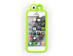 Froggy iPhone 5 Case With Ear Buds