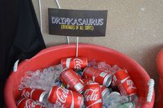 jurassic party birthday party ideas, dinosaurs party, food and drink labels