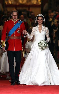 FLASHBACK:  HRHs, Prince William & Princess Catherine - Duke & Dutchess of Cambridge on their Wedding Day!