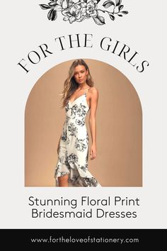 Floral Print Bridesmaid Dresses Online | Black and White Floral High Low Dress Formal | Floral Printed Bridesmaids Gowns | Bride Tribe Beach Dresses Bridesmaid Dresses Floral Print, Mismatched Bridesmaid Dresses, Bridesmaid Dresses Online, Beach Dresses, Formal Dresses, Floral High Low Dress, Wedding Accessories, Floral Prints, Gowns