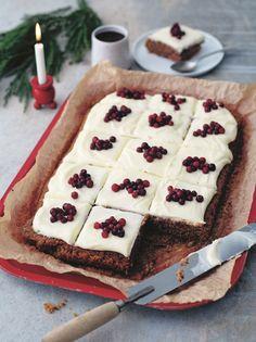 Baking Recipes, Cake Recipes, Dessert Recipes, Desserts, Christmas Treats, Christmas Baking, No Bake Snacks, Piece Of Cakes, Cakes And More