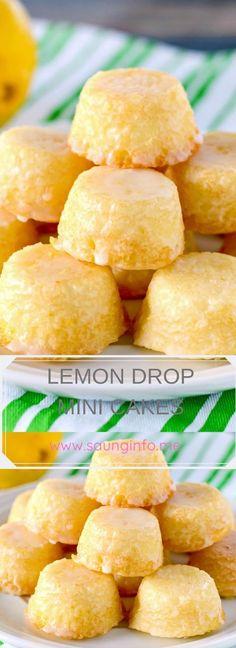 LEMON DROP MINI CAKES
