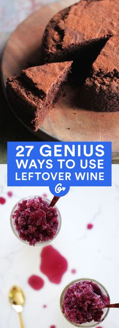 """""""Leftover wine"""" may sound like a mythical idea for some of us. But with these insanely delicious... #DIY #wine #recipes http://greatist.com/eat/ways-use-leftover-wine"""