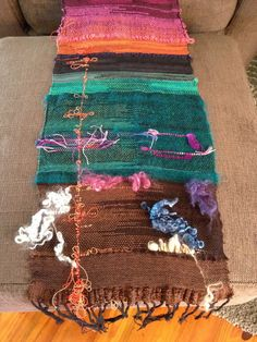 Experimenting with colours & textures at weaving workshop - my mind was exploding with so many exciting possibilities...
