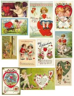 Free Printable Vintage Valentine Cards for Personal use Only by Tammy Chilton Noonan