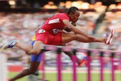 Best Of London: Day 12 - Slideshows | Aries Merritt of the United States competes in the Men's 110m Hurdles Semifinal on Day 12.  (Photo: Clive Brunskill / Getty Images) #NBCOlympics
