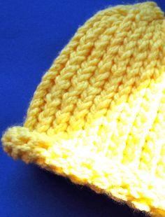 Cozy Chamomile Newborn Knitted Hat by MandarinMommy on Etsy, $11.00