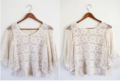 crocheted blouse | Civic Thrift