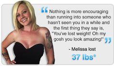 Melissa lost 37lbs*