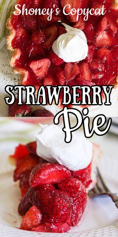 Fresh strawberry flavor in this Shoney's Strawberry Pie copycat recipe made with Jello! Easy no bake recipe. Custard Recipes, Dump Cake Recipes, Jello Recipes, Easy Baking Recipes, Tart Recipes, Copycat Recipes, Strawberry Pie With Jello, Strawberry Recipes, Deserts