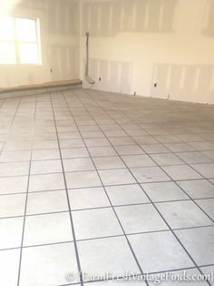 How to Stain a Concrete Garage-3