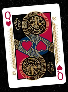 # Playing Cards inspired by RongoRongo scribes and tribal masks of Easter Island.