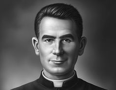 Portrait of a famous cardinal of Chile, Raul Silva Henriquez. The idea was doing a realistic version of him as a younger person, when he was just starting his career as a priest. Priest, New Work, Behance, Illustration, Chile, Artworks, Career, Portraits, Gallery