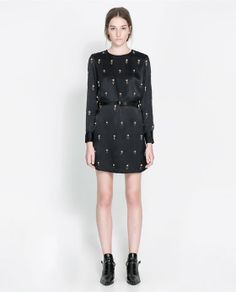 Image 1 of EMBROIDERED SATIN DRESS from Zara 139.00