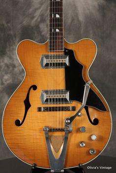 Old Kraftsman (KAY) Hollowbody 1960s w Vibrato Flame Maple