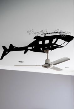 Helicopter Ceiling Fan Decal, Boys Room Wall Decal, Helicopter Decal, Helicopter Sticker, Boys Room, Baby Boy, Helicopter, Military Decor by VinylDecalShoppe on Etsy https://www.etsy.com/listing/280454730/helicopter-ceiling-fan-decal-boys-room