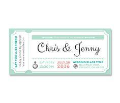 Printable Wedding Invitation / Downloadable / DIY Invitation  / Flight Ticket / Affordable / Unique / Special / Personalized wedding / IV06