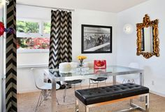 Creating Focal Point With Statement Mirror
