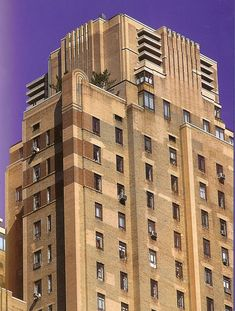 "A ""lesser known"" Art Deco buildings in Manhattan is found at 25 Central Park West, built in 1931.  Its awning doesn't look like much, but when you look up you see the perpendicular lines set into the building façade to emphasize height as well as a stepped in set back."
