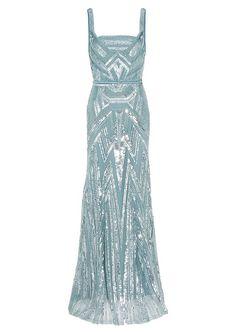Elie Saab - blue pastel beaded dress