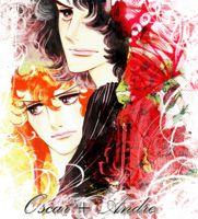 """Oscar & André from """"la Rose de Versailes""""."""