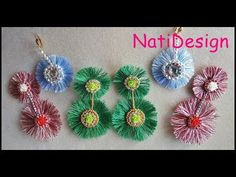 PENDIENTES FASHION - YouTube Diy Crafts Videos, Diy And Crafts, Diy Earrings, Crochet Earrings, Bijoux Diy, Tassels, Embroidery, Beads, Christmas Ornaments
