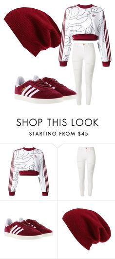 """Untitled #11"" by btsyoonmintrash ❤ liked on Polyvore featuring adidas Originals, River Island, adidas and Halogen"