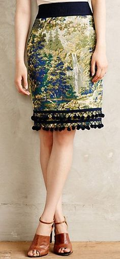 Beautiful tapestry woven skirt #anthrofave http://rstyle.me/n/qiwvrnyg6