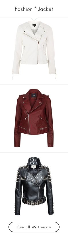 """Fashion * Jacket"" by szivarvanydesign ❤ liked on Polyvore featuring outerwear, jackets, topshop, white, vegan moto jacket, white jacket, faux-leather jackets, vegan leather jacket, white motorcycle jackets and leather jacket"