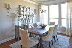 Neutral Formal Dining Room by Shaddock Homes at Phillips Creek Ranch #ShaddockHomesTX #DiningRoom #Decor