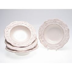 Certified International Firenze Ivory 9.75-inch Soup Bowls (Set of 4) | Overstock.com Shopping - Great Deals on Certified International Bowls