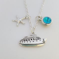 pendant ship pendant,boat pendant ship jewellery,ship necklace,captain jewellery,star sea necklace,birthstone necklace ,ship necklace gift Birthstone Necklace, Birthstones, Pendant Necklace, Trending Outfits, Unique Jewelry, Handmade Gifts, Etsy, Vintage, Kid Craft Gifts