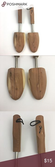 Men's Shoe Trees Men's wooden Shoe Trees, Size Medium; see photos for measurement (can be adjusted down some smaller than that as well), one does have some writing on it- see photos for details; function fine Unbranded Accessories