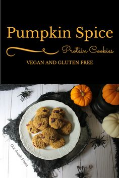 Pumpkin Spice Protein Cookies are gluten free, vegan, and a great healthy sweet snack for any time of day. Easy to make and full of Fall flavors!
