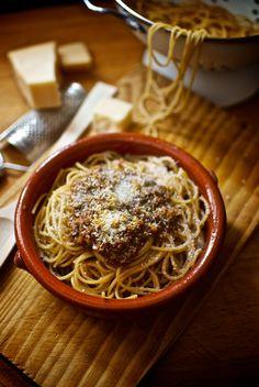 Espaguetis a la boloñesa de Pepekitchen, para el blog 'A tu Gusto' de superSol. La mejor gastronomía :)