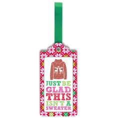 Ugly Sweater bottle tag